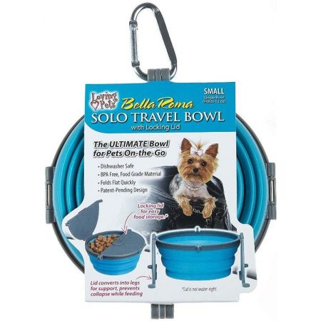 Loving Pets Bella Roma Blue Travel Bowl