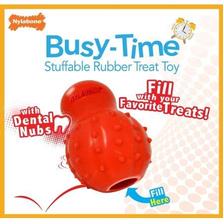 Nylabone Rhino Stuffable Dog Chew Toy - Bacon Flavor - Wolf