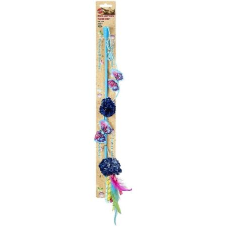 Spot Butterfly and Mylar Teaser Wand Cat Toy - Assorted Colors