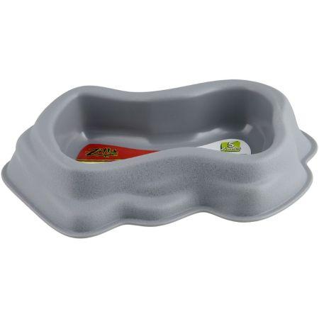 Zilla Decor Durable Dish for Reptiles Grey alternate view 3