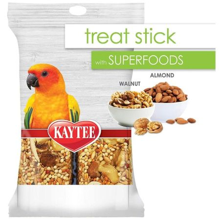 Kaytee Kaytee Superfoods Avian Treat Stick - Walnut & Almonds