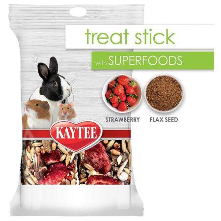 Kaytee Superfoods Small Animal Treat Stick - Strawberry & Flax