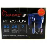 """7 Watts - 90 GPH - 6.5""""L x 5""""W x 9.5""""H (For Aquariums up to 25 Gallons)"""