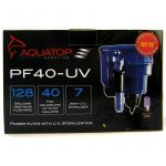 """7 Watts - 128 GPH - 8.5""""L x 6.5""""W x 10.5""""H (For Aquariums up to 40 Gallons)"""